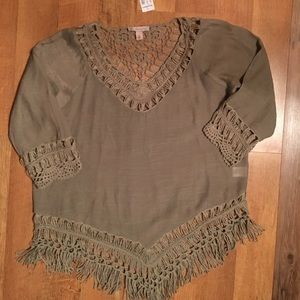 Beautiful fringed top